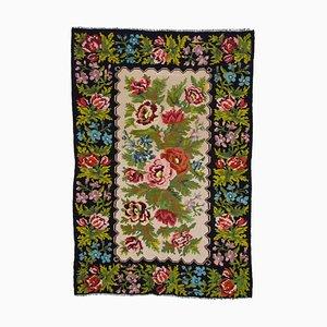 Black Moldovan Kilim Carpet