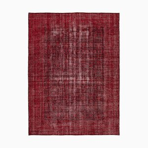Red Overdyed Large Area Carpet