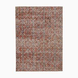 Vintage Turkish Red Area Carpet