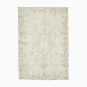 Vintage Turkish Beige Area Carpet