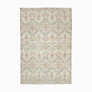 Beige Vintage Turkish Area Carpet