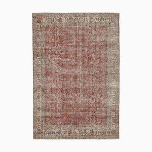Red Vintage Turkish Area Carpet