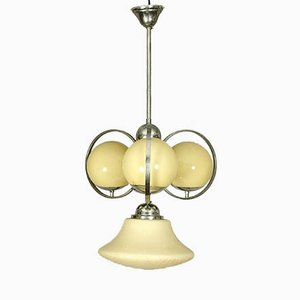 Austrian Art Deco Ball Chandelier