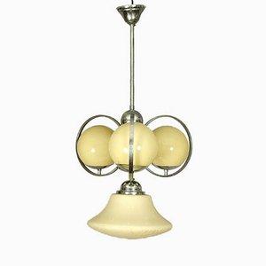 Lámpara de araña austriaca Art Déco en forma de bola