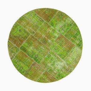 Green Round Patchwork Carpet