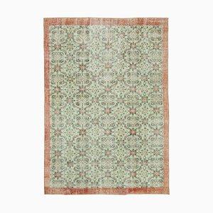 Vintage Turkish Green Area Carpet