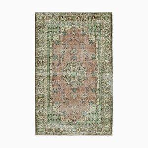 Green Vintage Turkish Area Carpet