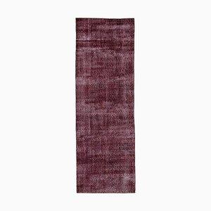 Red Overdyed Runner Carpet