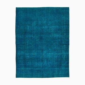 Vintage Blue Overdyed Large Area Rug