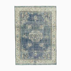 Vintage Turkish Blue Area Rug