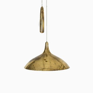 Brass Ceiling Lamp by Paavo Tynell