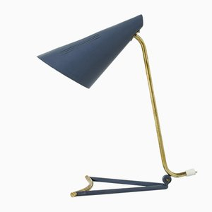 Lacquered Metal Table Lamp by Knud Joos