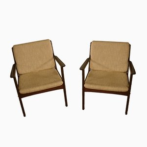 Mahogany Model PJ112 Armchairs by Ole Wanscher for Poul Jeppesens Møbelfabrik, 1960s, Set of 2