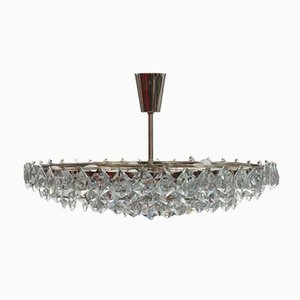 Crystal and Glass Chandelier from Bakalowits & Söhne, 1950s