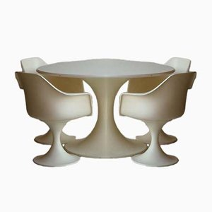 Italian Fibreglass Table & Chairs Set from Play, 1960s, Set of 5