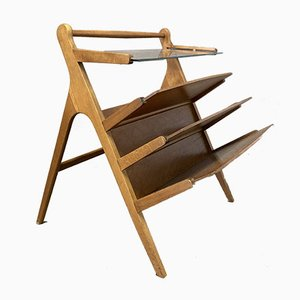 Scandinavian Magazine Rack, 1950s