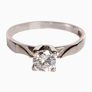 Diamond Solitaire Ring aus 18 Karat, 1986