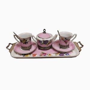 Mid-Century Porcelain Tea Set by Hofbräuhaus Bavaria, Set of 8