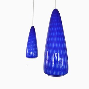 Optica Glas Hängelampen von Jo Hammerborg für Fog & Mørup, 1960er, 2er Set