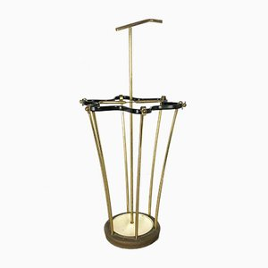 Mid-Century Brass Umbrella Stand, France, 1950s