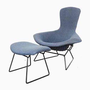 Bird Chair und Ottomane von Harry Bertoia für Knoll Inc. / Knoll International, 1970er, 2er Set