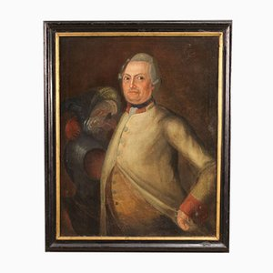 Antique German Portrait, 18th-Century