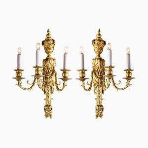 Bronze Golden Wall Light, Set of 2