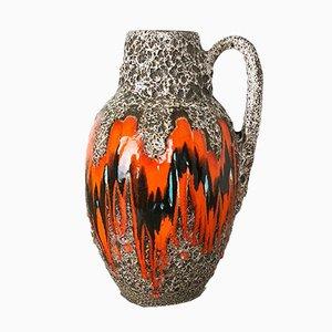 Große Keramik Fat Lava Bodenvase von Scheurich, 1970er