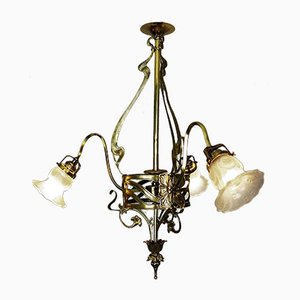 Antike Deckenlampe aus Bronze