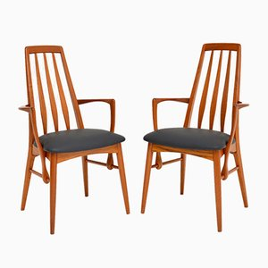 Danish Teak Dining Chairs by Niels Koefoed for Koefoeds Hornslet, 1960s, Set of 2