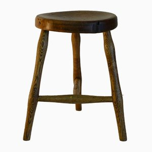 Antique Workshop Stool in Ash and Maple