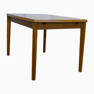 Mid-Century Danish Extendable Dining Table with Concealed Panels in Teak from Grete Jalk for Glostrup, 1960s