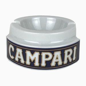 Vintage Advertising Campari Porcelain Ashtray from Thun Design, 1980s