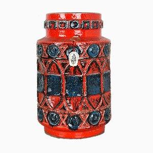 Vaso Fat Lava 92 35 colorato di Bay Ceramics, anni '60
