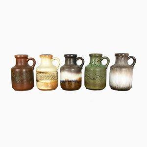 Vases Fat Lava 414-16 Vintage de Scheurich, Set de 5