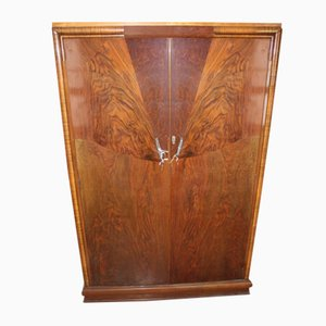 2 Door Art Deco Mahogany Wardrobe, 1920s