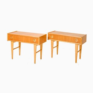 Scandinavian Nightstands, 1950s, Set of 2