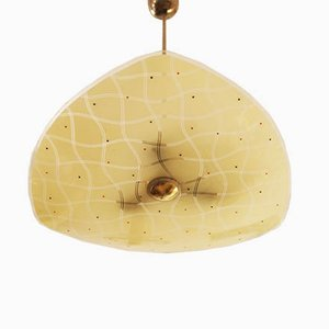 Czech Mid-Century Glass Pendant Lamp For Brussels World Expo, 1958