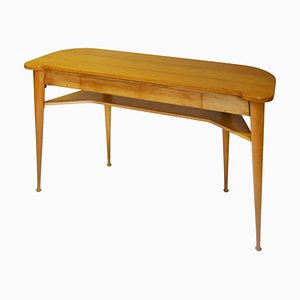 Wood Console Table from Produzione Italiana, 1950s