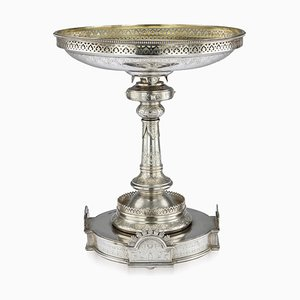 Russische Panslawische Tazza aus Silber in Silber von Ivan Chlebnikov, 1888
