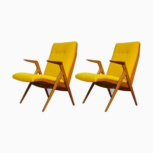Lounge Chairs by Taichiro Nakai for La Permanente Mobili Cantù, 1950s, Set of 2