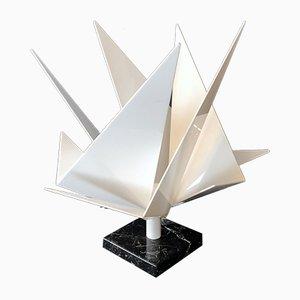 Skulpturale Italienische Tischlampe aus Plexiglas & Marmor, 1970er