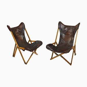Tripolina Folding Chairs by Paolo Viganò, 1930s, Set of 2