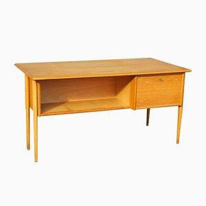 Oak Desk by Göran Strand for Lelångs Möbelfabrik, 1950s