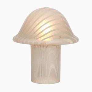 Glas Mushroom Tischlampe von Peill & Putzler, 1970er
