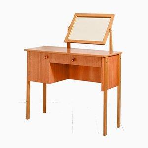 Teak Desk with Mirror, 1950s