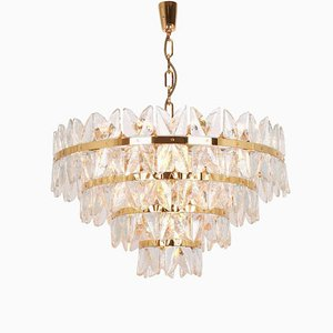 Large Gilt Brass Corina Chandelier from Kalmar, Austria, 1970s