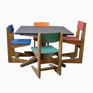 Mesas infantiles y sillas de ZSCHOCKE, años 60. Juego de 5