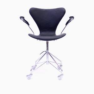 Chaise Pivotante Modèle 3217 par Arne Jacobsen pour Fritz Hansen, 1960s