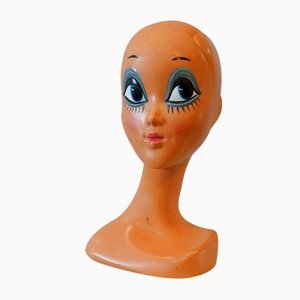 Vintage Head of Supermodel Twiggy, Frankreich, 1970er